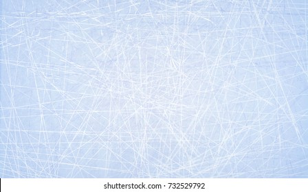 Textures blue ice. Ice rink. Winter background. Overhead view. Vector illustration nature background.