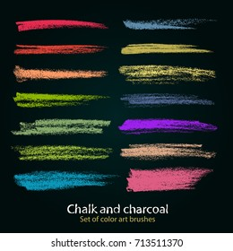 Textures of chalk and charcoal. Vector brush strokes. Soft pastel colors. Decorative frame. High resolution image. Grunge template. For registration of design projects.Saved in the palette