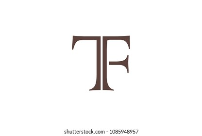 TF FT Letter Initial Logo Design Template