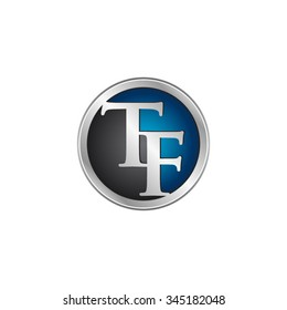 TF initial circle logo blue