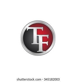 TF initial circle logo red