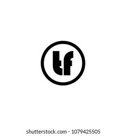 tf letter logo vector