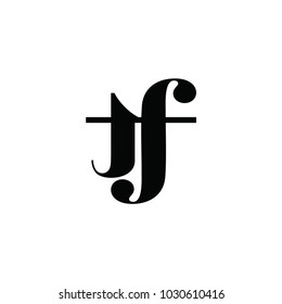 tf letter logo. yf letter logo