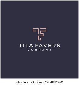 TF monogram initial logo