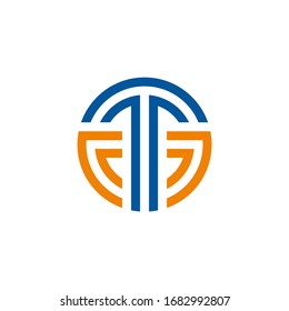 TG or GT letter logo. Unique, attractive and creative modern initial TG GT, G T or t g initial based letter icon logo. Alphabet letters monogram icon logo GT or TG