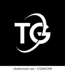 TG Letter Logo Design. Initial letters TG logo icon. Abstract letter TG T G minimal logo design template. T G letter design vector with black colors. tg logo