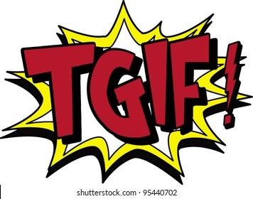 tgif images stock photos vectors shutterstock rh shutterstock com TGIF Funny Free TGIF Animals