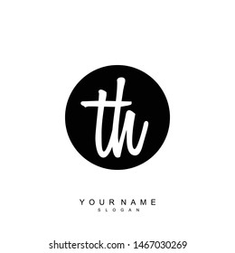 TH Initial beauty floral logo template