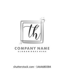 TH Initial beauty monogram logo vector