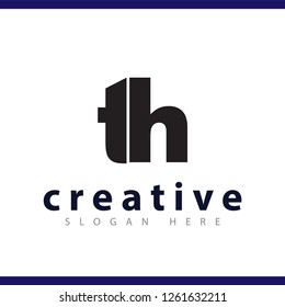 th initial letter logo vector template