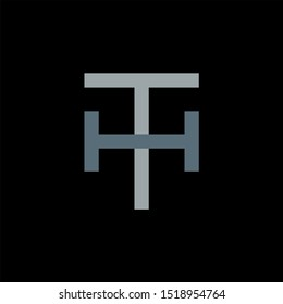 TH Letter monogram with abstrac concept style design