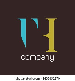 TH logo design for companies. Monogram logo. Letters T and H.