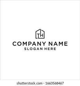 TH logo icon design vector