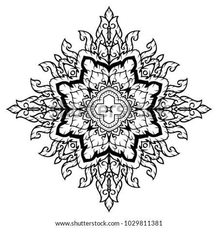 Thai Ancient Asian Traditional Art Design Lai Stock Vector Royalty