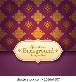 Thai Art Background, Thai art pattern vector.