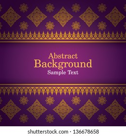 Thai Art Background, Thai art pattern vector.