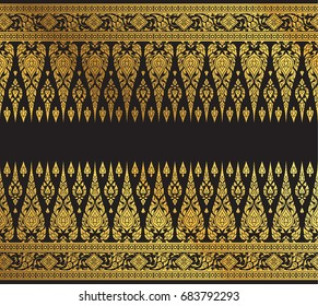 Thai Art Background pattern vector