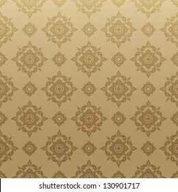 Thai Art Background vector, Thai art pattern vector