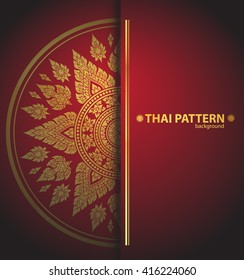 Thai art outline vector