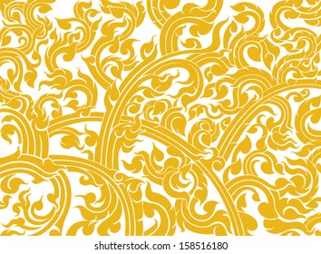 Thai art pattern on a white background