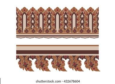 Thai art seamless boarder pattern