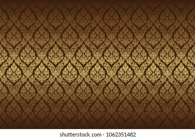 thai art, temple, background pattern decoration for printing, flyers, poster, web, banner, brochure and card concept vector illustration