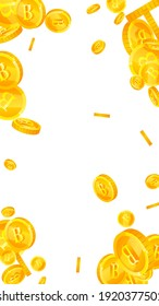Thai baht coins falling. Pretty scattered THB coins. Thailand money. Astonishing jackpot, wealth or success concept. Vector illustration.