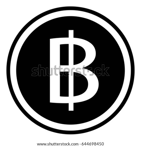 Thai Baht Sign Currency Thailand Thb Stock Vector Royalty Free