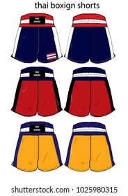 thai boxing short vector