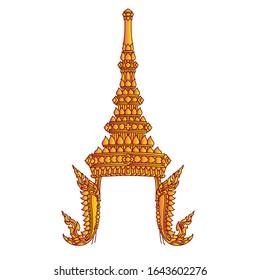 Thai crown vector illustration (Chada)