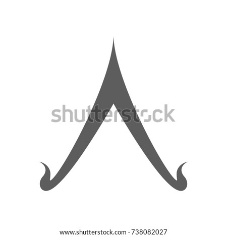 Thai Culture Roof Icon Trendy Flat Stock Vector Royalty Free