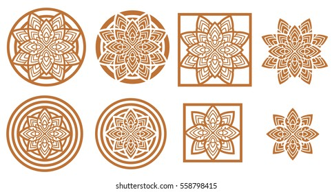 thai design decoration floral