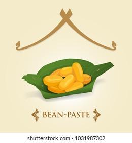 Thai Dessert - Bean paste (Med Kanoon | Jackfruit Seeds) 1 of 9 auspicious Thai Desserts