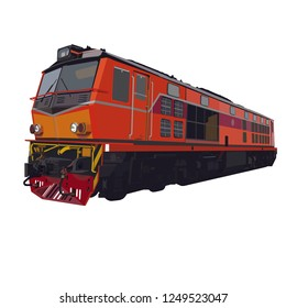 Thai diesel locomotive train vector