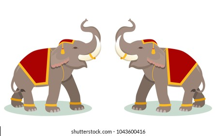 Thai elephant graphic vector