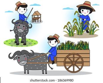 Thai Farmers daily life