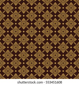 thai gold culture graphic art title pattern on brown background