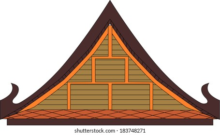 Thai house gable, Vector fomat