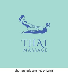 Thai massage vector logo design template. Spa and wellness vector . Health care sign (symbol, icon, illustration)