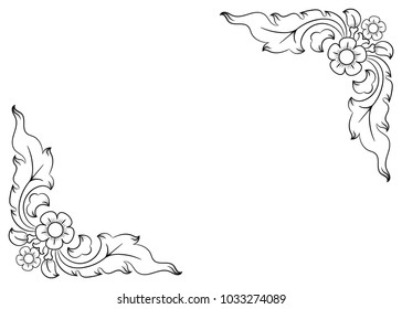 Flower Corner Images Stock Photos Vectors Shutterstock