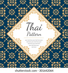 Thai Pattern, Background