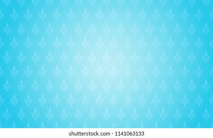 Thai pattern background vector illustration. Thai element pattern on bright blue background.