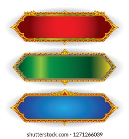 Thai pattern frame gold frame frame for decoration greeting card wedding card