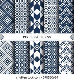 Thai pixel pattern, thai textile, pattern fills, web page background, surface textures