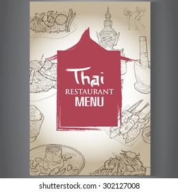 Thai restaurant menu design.