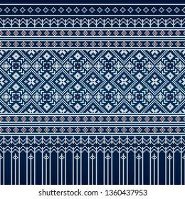 Thai silk pattern (The Culture of Thailand)