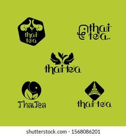 Thai tea Elephant Logo Design Vector Image