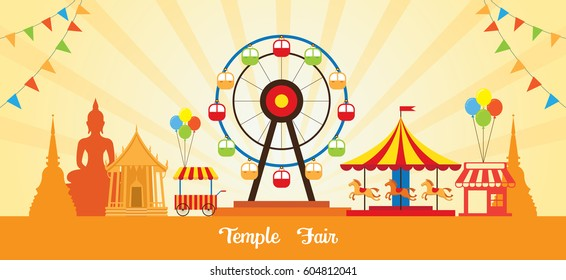 Thai Temple Fair, Thailand Festival and Event in Buddhism Place