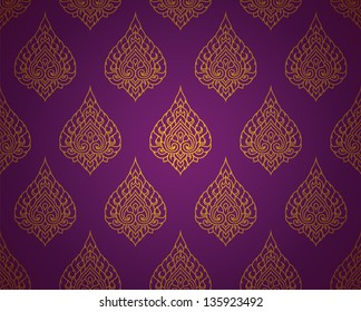 Thai traditional art. Thai Art Background, Thai art pattern, Vector.
