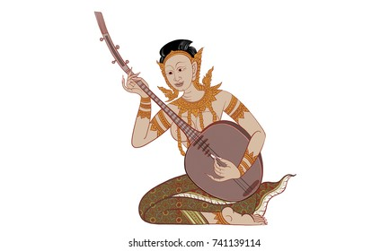 Thai traditional painting